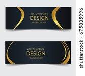 colorful geometric banner... | Shutterstock .eps vector #675835996