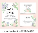 wedding invitation card... | Shutterstock .eps vector #675836938