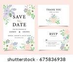 wedding invitation card... | Shutterstock .eps vector #675836938