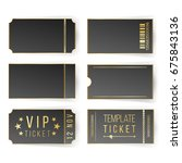 vip ticket template vector.... | Shutterstock .eps vector #675843136