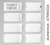 ticket template set vector.... | Shutterstock .eps vector #675843226