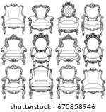 vintage baroque luxury style... | Shutterstock .eps vector #675858946