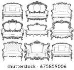 vintage baroque luxury style... | Shutterstock .eps vector #675859006
