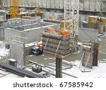 foundation for new condo tower... | Shutterstock . vector #67585942