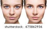 comparison close up portrait of ... | Shutterstock . vector #675862936