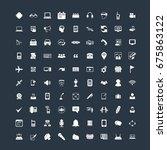 communication icon set | Shutterstock .eps vector #675863122