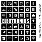 electronics icons set | Shutterstock .eps vector #675863902