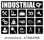 industrial icons set | Shutterstock .eps vector #675863908