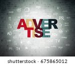 advertising concept  painted... | Shutterstock . vector #675865012