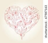 floral heart   Shutterstock .eps vector #67587163