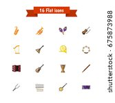 set of 16 editable audio icons. ...