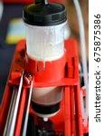 3d printer that printing a... | Shutterstock . vector #675875386
