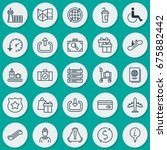 travel icons set. collection of ... | Shutterstock .eps vector #675882442
