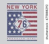 athletic sport new york... | Shutterstock .eps vector #675888292