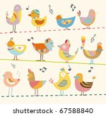 bird card | Shutterstock .eps vector #67588840
