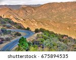 famous mulholland highway in... | Shutterstock . vector #675894535