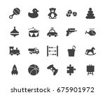 toys silhouettes icons set | Shutterstock .eps vector #675901972