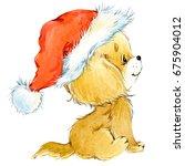 dog year greeting card. cute... | Shutterstock . vector #675904012