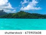 bora bora tropical beach | Shutterstock . vector #675905608
