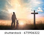 family worship and holy bible... | Shutterstock . vector #675906322