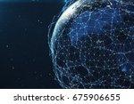 3d rendering network and data... | Shutterstock . vector #675906655