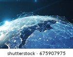 3d rendering network and data...   Shutterstock . vector #675907975