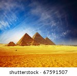 Great Pyramids In Giza Valley....