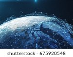 3d rendering network and data... | Shutterstock . vector #675920548