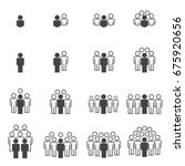 people icons work group team... | Shutterstock .eps vector #675920656
