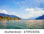 embankment of geneva lake in... | Shutterstock . vector #675923356