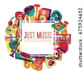 colorful music background.... | Shutterstock .eps vector #675924652