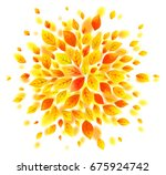 orange and yellow autumn leaves ... | Shutterstock .eps vector #675924742