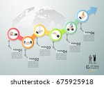 business concept infographic... | Shutterstock .eps vector #675925918