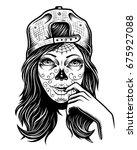 illustration of black and white ... | Shutterstock .eps vector #675927088