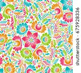 seamless background with floral ...   Shutterstock .eps vector #675928336