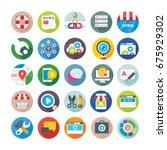 seo and digital marketing... | Shutterstock .eps vector #675929302