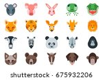animal heads vector pack for...
