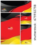 germany flag abstract colors... | Shutterstock .eps vector #675932758
