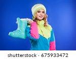 blonde attractive young... | Shutterstock . vector #675933472
