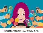 vector live report concept ... | Shutterstock .eps vector #675937576
