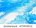 sky with clouds painted... | Shutterstock . vector #675943912