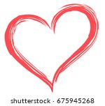 heart shape vector  love... | Shutterstock .eps vector #675945268