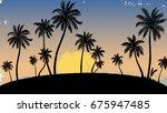 vector illustration of a hand... | Shutterstock .eps vector #675947485