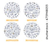 doodle vector concepts of email ... | Shutterstock .eps vector #675948055