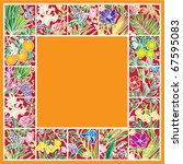 orange stained glass decorative ... | Shutterstock .eps vector #67595083