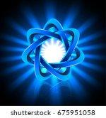 infinite blue star loop with...   Shutterstock .eps vector #675951058
