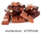 many chocolate   pieces on...   Shutterstock . vector #67595248