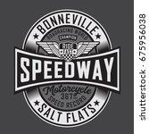 Stock vector motorcycle race typography tee shirt graphics vectors 675956038