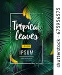 bright tropical background with ... | Shutterstock .eps vector #675956575