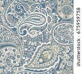 seamless paisley ornament....   Shutterstock .eps vector #675959758